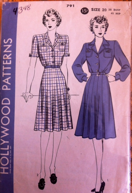 Vintage 40s dress pattern