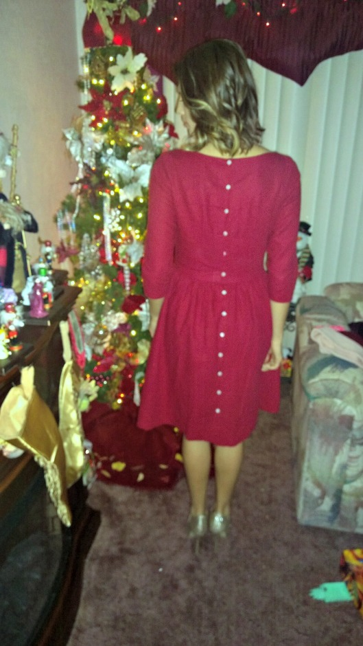 Emery Dress with Button Back