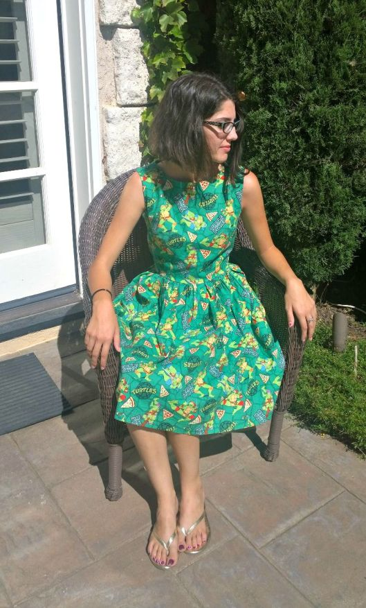 Holly Turtle Dress Sitting