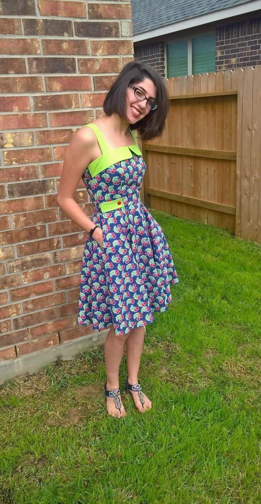 Cherry Dress pockets